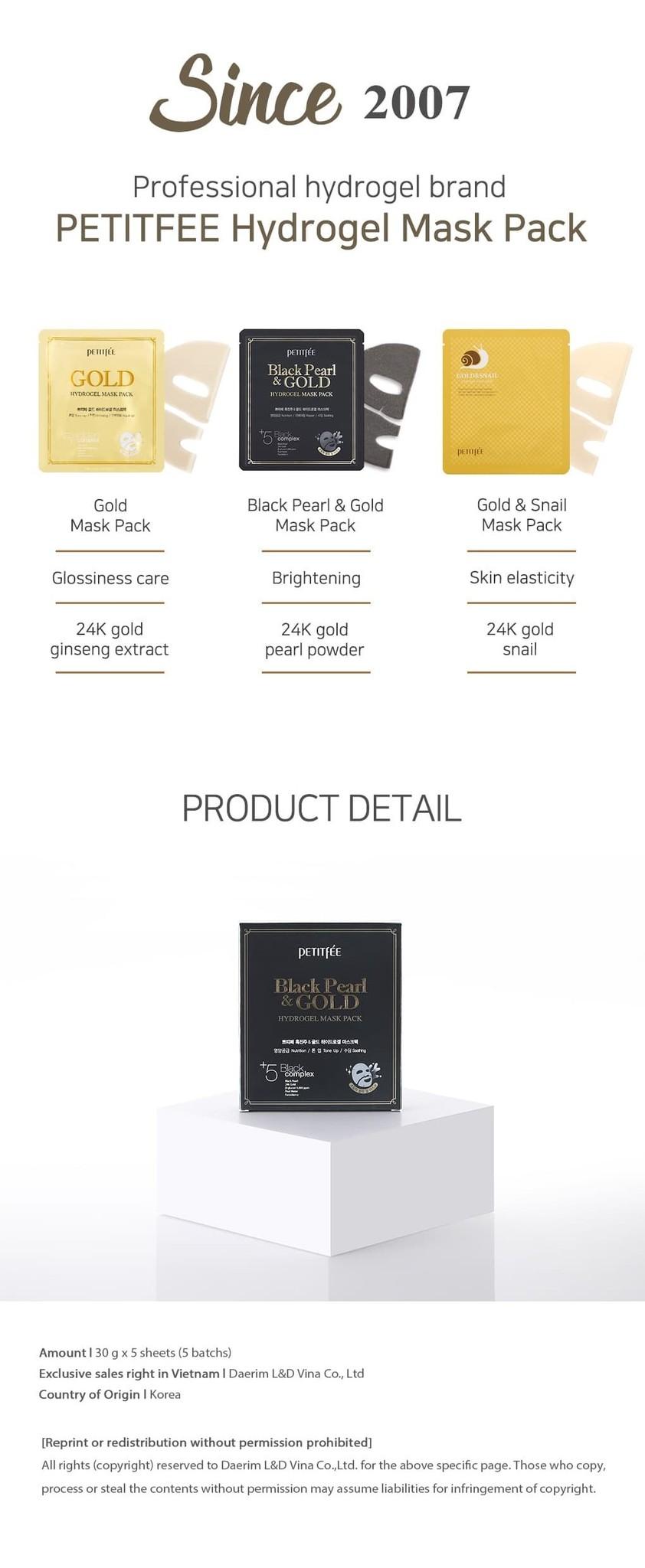 Black Pearl & Gold Hydrogel Mask-8
