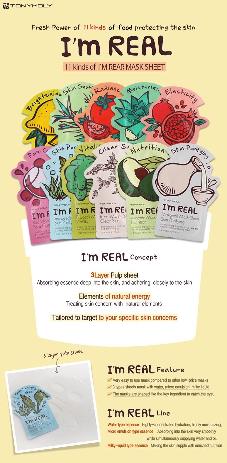 I`m REAL Avocado Mask Sheet Nutrition-2