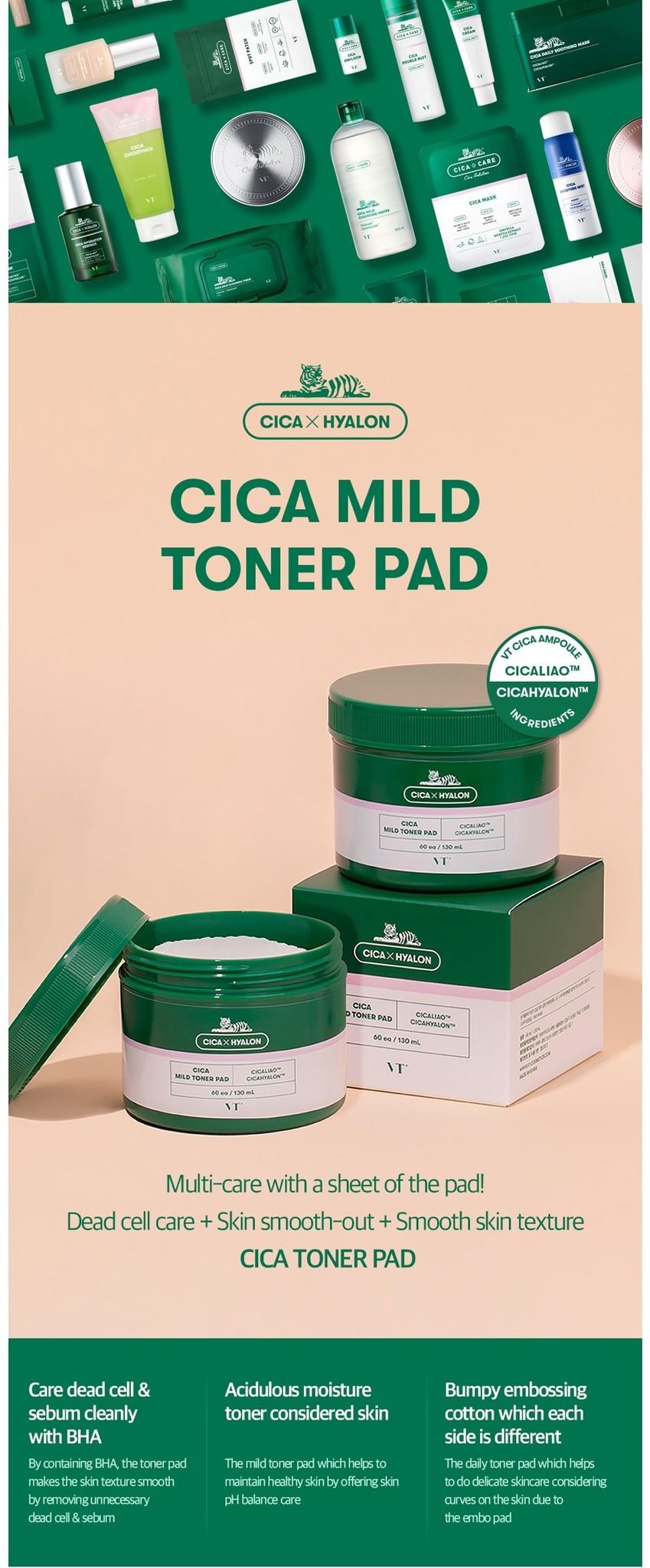 VT CICA Mild Toner Pad-2