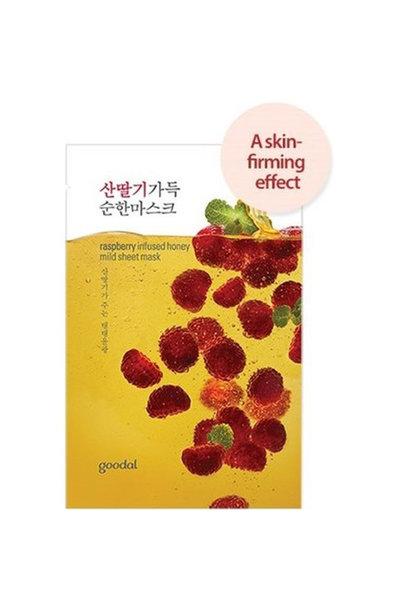 raspberry infused sheet mask