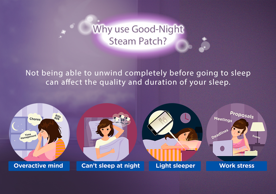 MegRhythm Steam Good Night Neck Sheet - Lavender (1 pc)-4