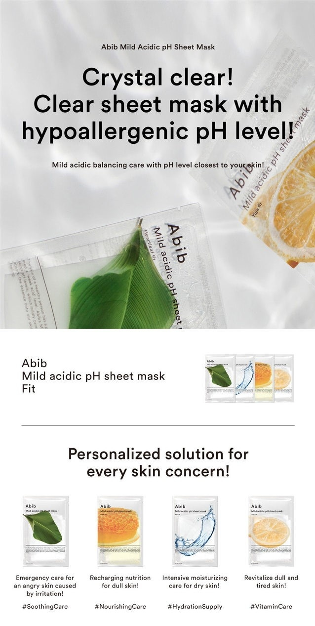 Mild Acidic pH Sheet Mask Mix Set (4 pcs)-2