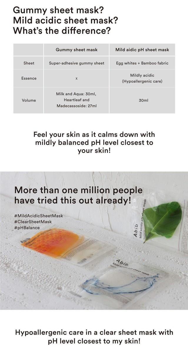 Mild Acidic pH Sheet Mask Mix Set (4 pcs)-5