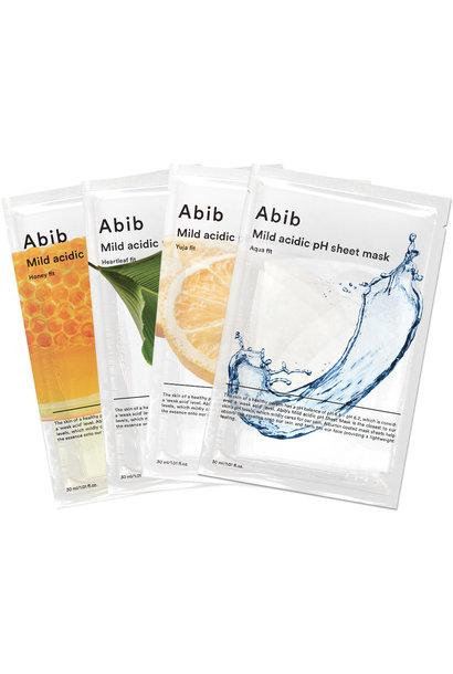 Mild Acidic pH Sheet Mask Mix Set (4 pcs)
