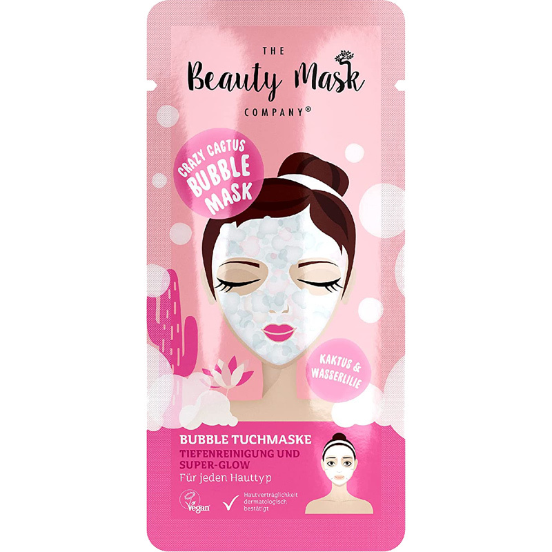 Bubble Sheet Mask #cactus & water lily-1