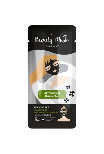 Tuchmaske #Aktivkohle & Grüner Tee
