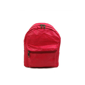 Auctor, tassen en accessoires van kraftpapier Papieren rugzak (15L)  met een strak design - Rood