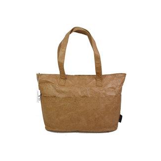 Auctor, tassen en accessoires van kraftpapier Papieren shopper  met een strak design - Naturel