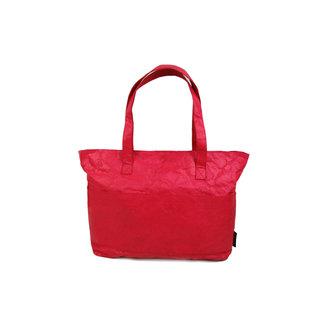 Auctor, tassen en accessoires van kraftpapier Papieren shopper  met een strak design - Rood