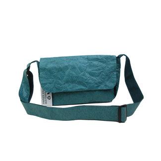 Auctor, tassen en accessoires van kraftpapier Papieren tasje met overslag - Blauw