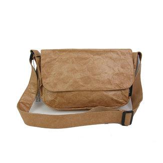 Auctor, tassen en accessoires van kraftpapier Papieren tasje met overslag - Naturel