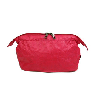 Auctor, tassen en accessoires van kraftpapier Toilettas met verfrommelde look - Rood