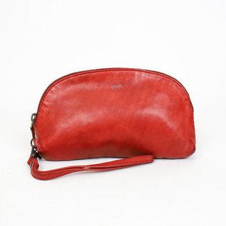 Bear Design Leren etui  rood -  CL 14659,  Cow Lavato Collectie