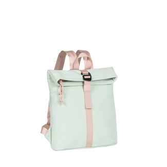 New Rebels Tim Roll-Top Backpack (S) Mint blue/soft pink