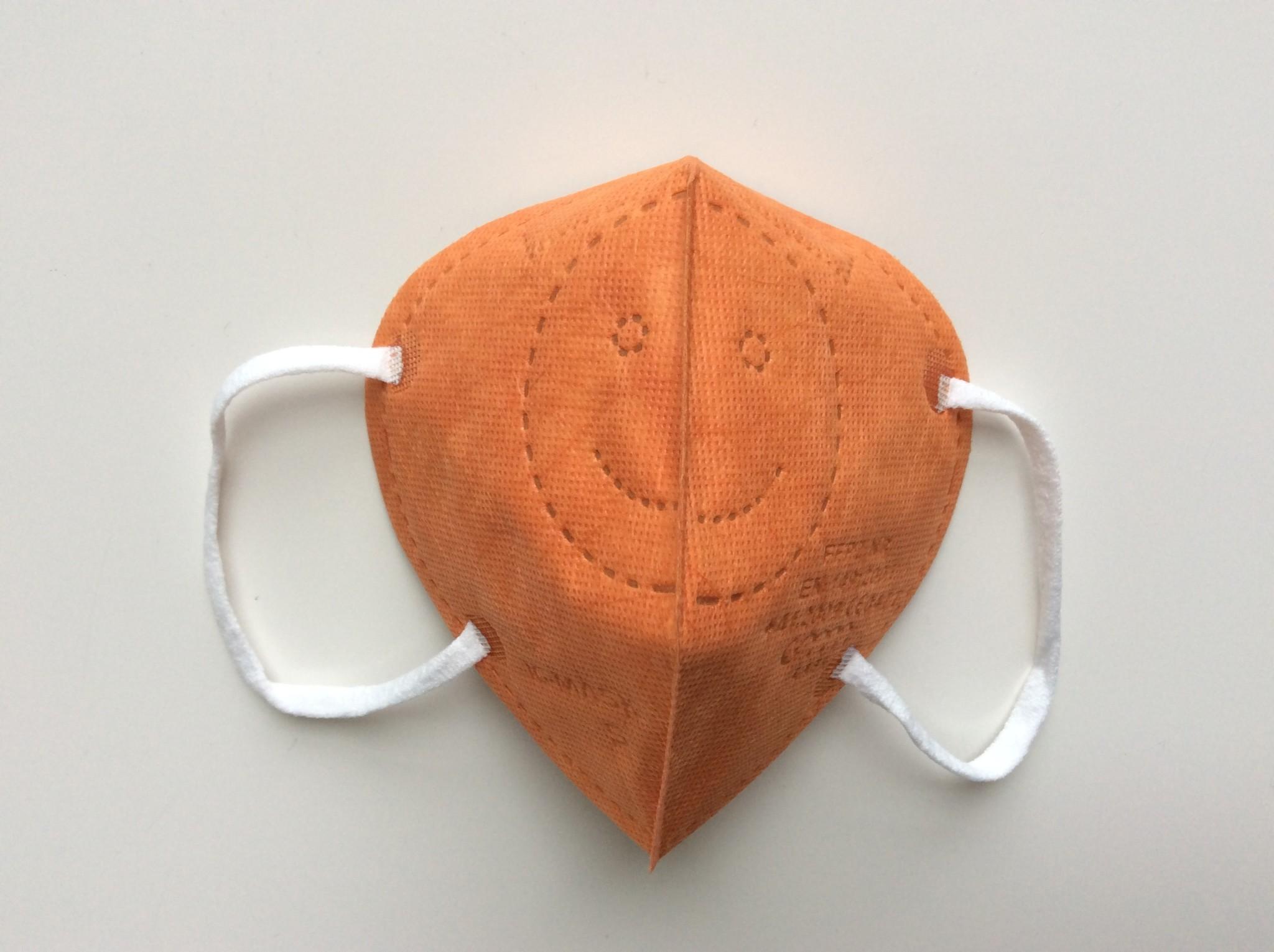 """IG-mask Masque IG """"FFP2"""" - Couleur Orange - 5 pièces (2,99 par pièce)"""