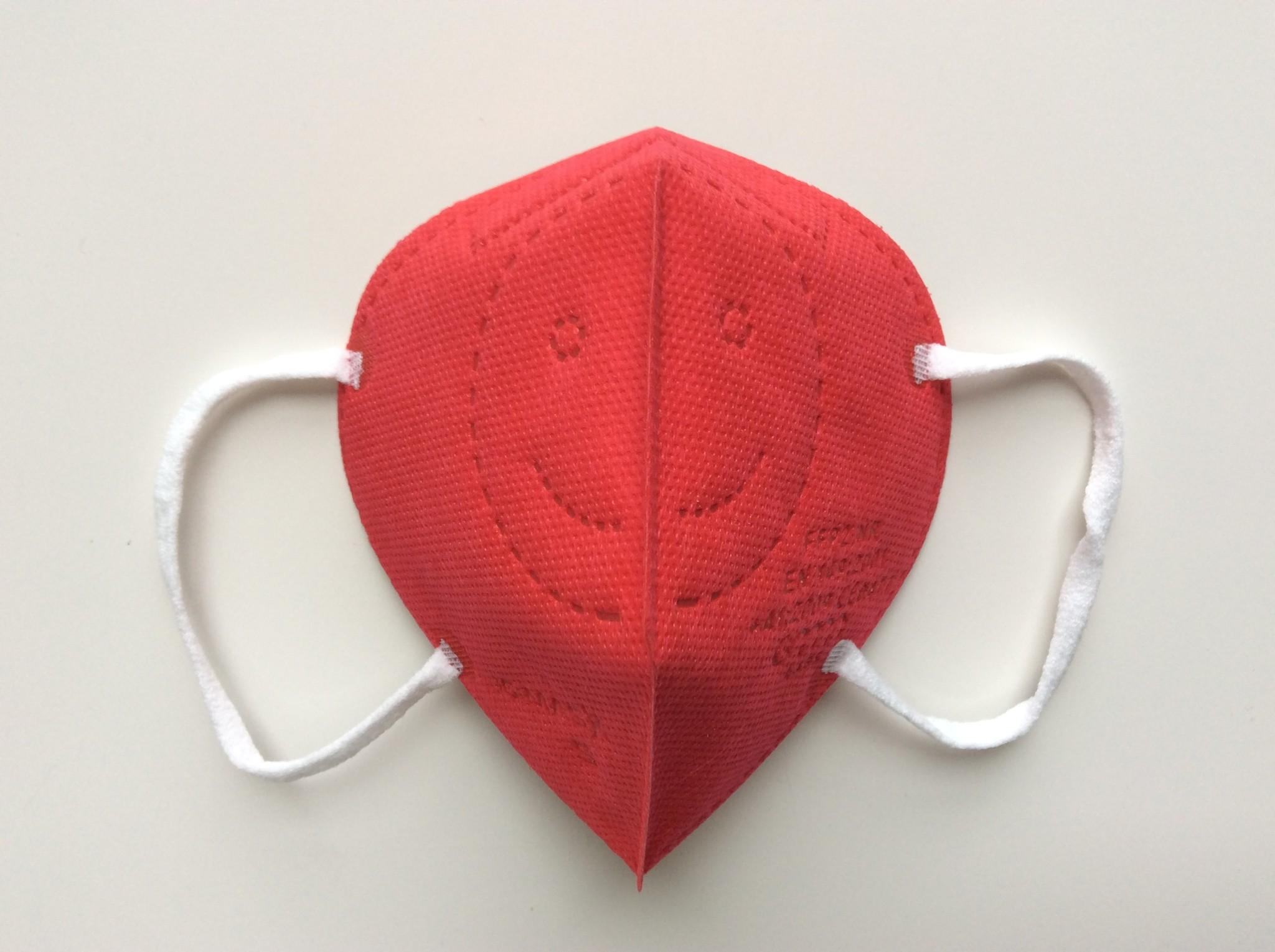 """IG-mask Masque IG """"FFP2"""" - Couleur Rouge - 5 pièces (2,99 par pièce)"""
