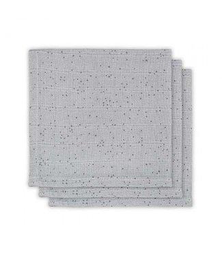 Jollein Hydrofiele monddoekjes 3pck mini dots mist grey
