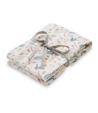 Cam Cam Swaddle Muslin Light Printed Pressed Leaves Rose