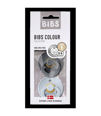 Bibs Bibs T1 Iron / Baby Blue 0-6m