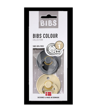 Bibs Bibs T1 2pck Iron/Beige