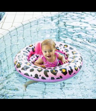 Zwemzitje Leopard Pink