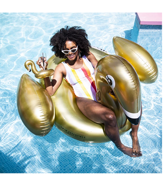 Inflatable Swan Gold XL