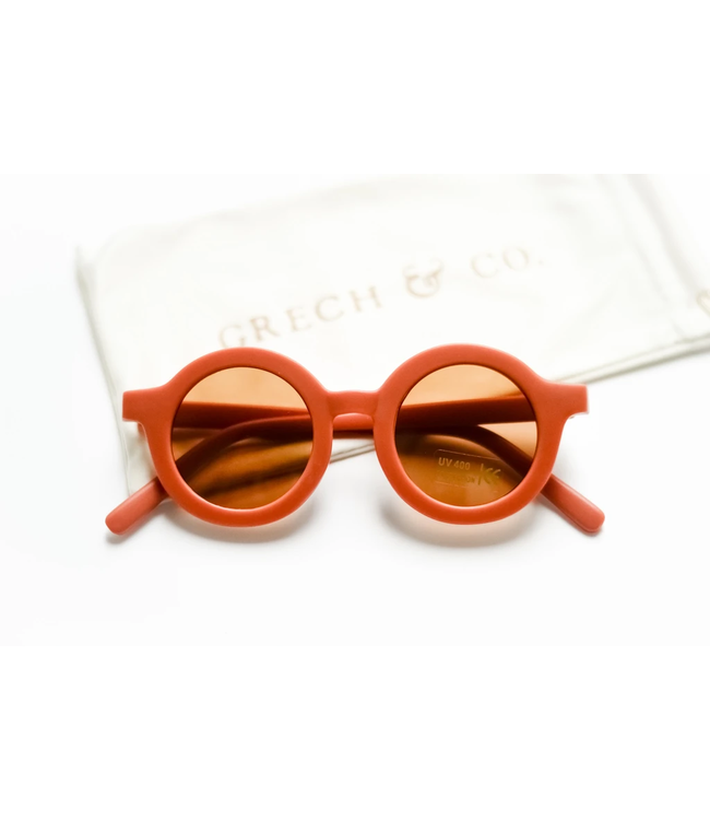 GRECH & CO SUSTAINABLE KIDS SUNGLASSES RUST