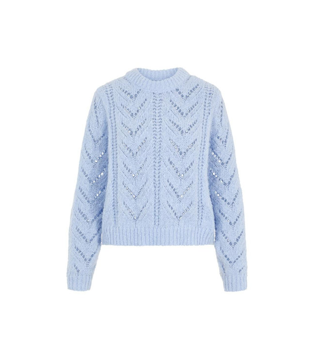 Pieces PCSENNA LS O NECK KNIT