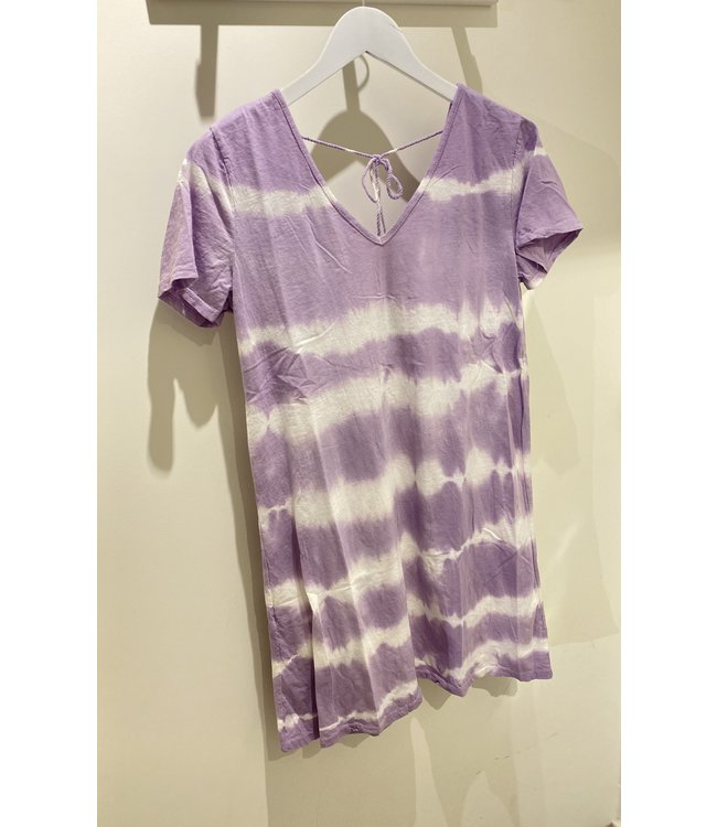 Mila & me TIE DYE LILA T SHIRT DRESS