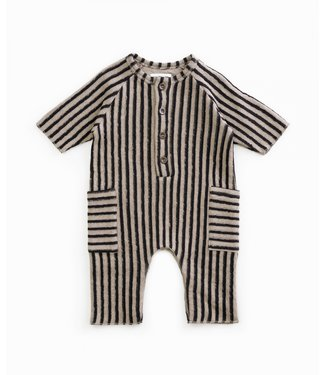 Play Up STRIPED DOUBLE FACE JUMPSUIT JERO