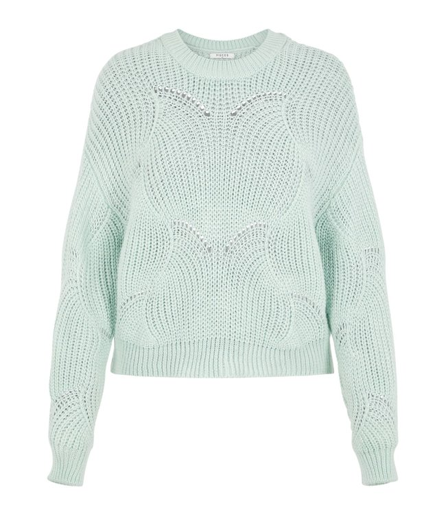 Pieces PCBENITA LS O NECK KNIT JAD