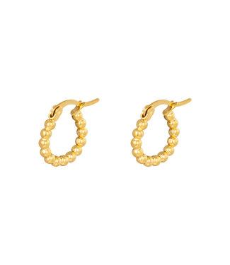 Mila & me EARRINGS HOOPS SPHERES 15M GOLD