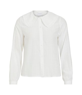 Vila VIFINE LS COLLAR SHIRT WH