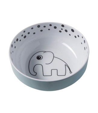 Done By Deer Yummy Bowl Happy Dots Blue