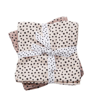Done By Deer BURP CLOTH 2PCK HAPPY DOTS POWDER
