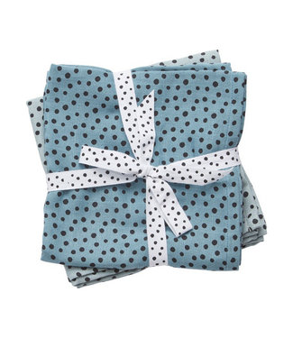 Done By Deer SWADDLE 2PCK HAPPY DOTS BLUE