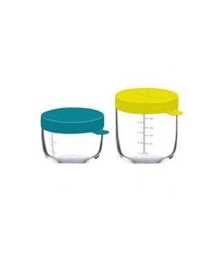 Beaba Set 2 glazen bewaarpotjes 150 & 250ml