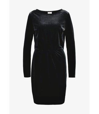 Viminny Velvet Ls Dress Black XS