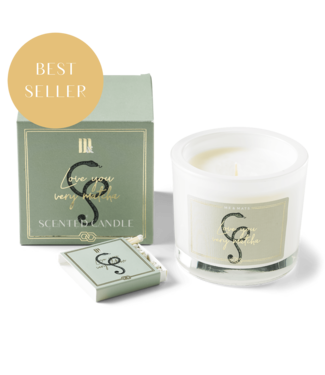 Mila & me LUXURY SCENTED CANDLE LOVE YOU VERY MATCHA