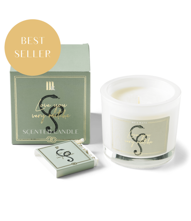 LUXURY SCENTED CANDLE LOVE YOU VERY MATCHA