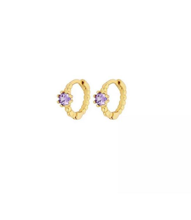 Jo Earrings Round Lila