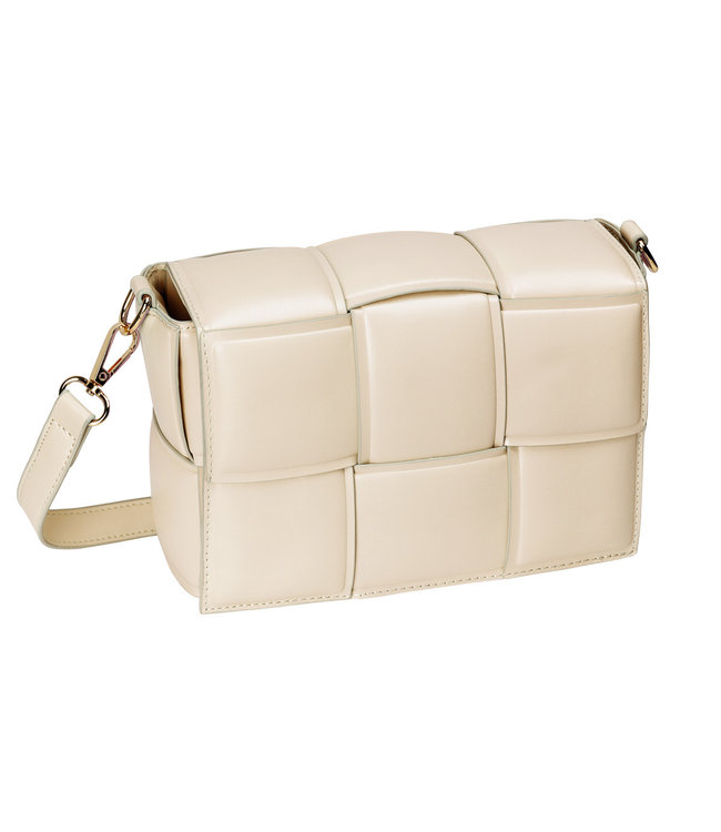 MUSTHAVE SQUARE BRAIDED BAG BEIGE