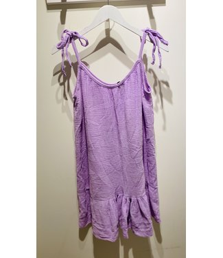 ELLY TETRA DRESS SHORT LILA ONE SIZE