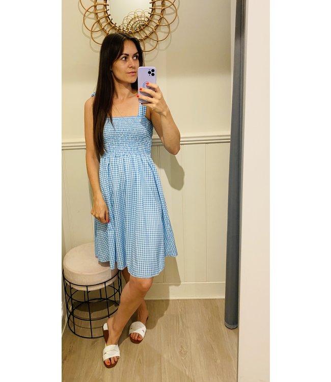 CARREAUX SMOCK DRESS BLUE
