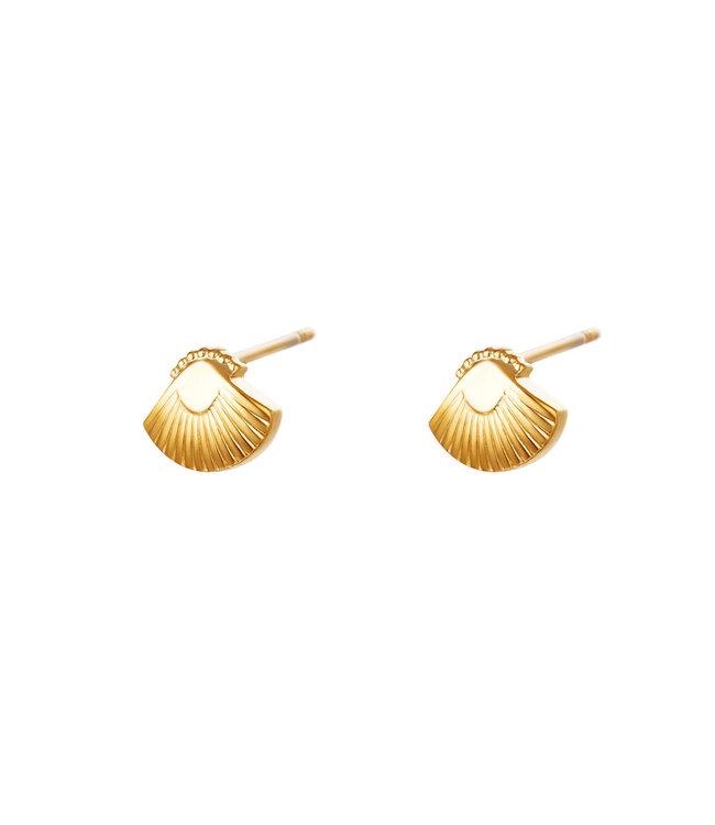 EARRINGS STEKER SHELL GOLD