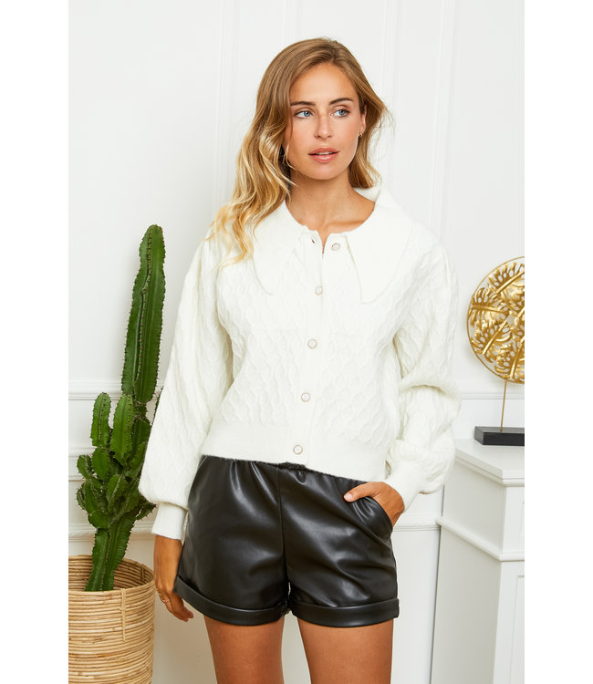 THE SOFTEST COLLAR KNIT