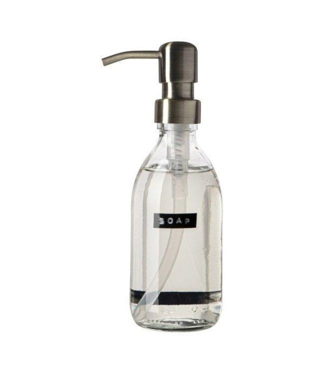 WELLMARK HANDZEEP FRISSE LINNEN HELDER GLAS SOAP