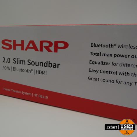 sharp slim soundbar 2.0 ht-sb 110
