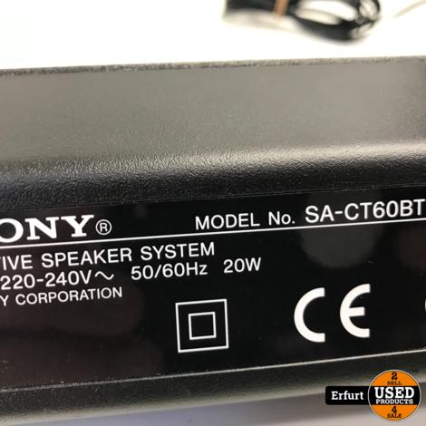 Sony Soundbar +Woofer SA-CT60BT