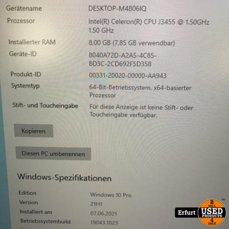 Mini PC ACEPC Windows 10 Pro 8GB RAM 256GB SSD ROM Intel Celeron J3455